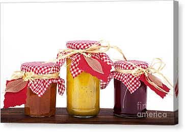 Labelled Canvas Print - Jam Jelly And Pickle by Jane Rix