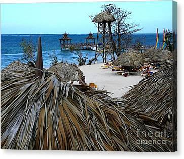 Jamaican Paradise Canvas Print by Anne Gordon