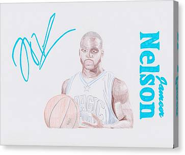 Jameer Nelson Canvas Print by Toni Jaso