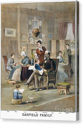 James A. Garfield: Family Canvas Print by Granger