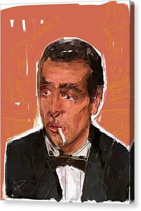 James Bond Canvas Print by Russell Pierce