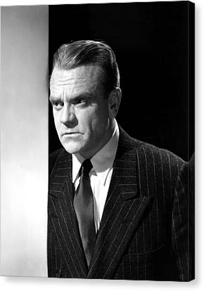 James Cagney, Portrait, 1950s Canvas Print by Everett