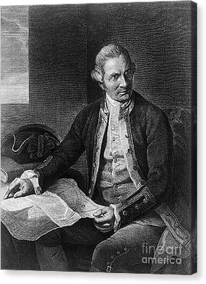 James Cook, English Explorer Canvas Print by Photo Researchers