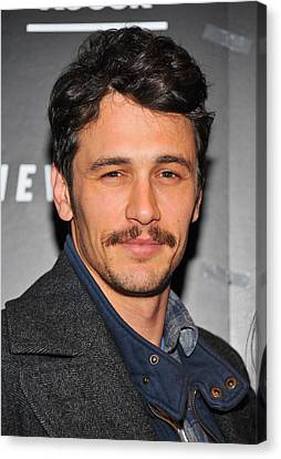 James Franco At Arrivals For Somewhere Canvas Print by Everett