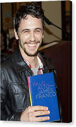 James Franco At In-store Appearance Canvas Print by Everett