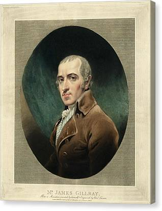 James Gillray, British Caricaturist Canvas Print by Miriam And Ira D. Wallach Division Of Art, Prints And Photographsnew York Public Library