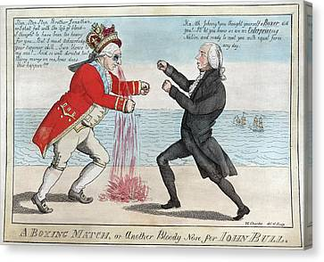 James Madison, A Boxing Match, Or Canvas Print by Everett