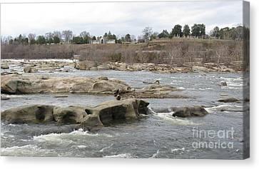 James River. Richmond Va Canvas Print by Ausra Huntington nee Paulauskaite