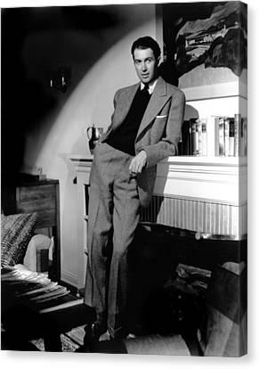 James Stewart, Portrait Canvas Print by Everett