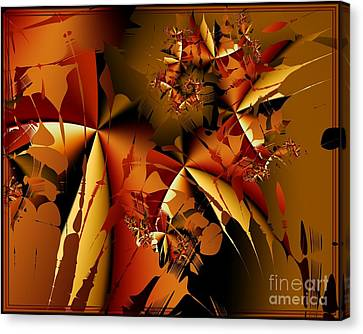 Jamming In Autumn Canvas Print by Michelle H