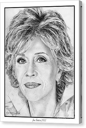 Jane Fonda In 2005 Canvas Print by J McCombie