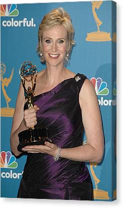 Jane Lynch In The Press Room Canvas Print