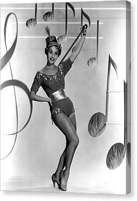 Jane Powell, Early 1950s Canvas Print
