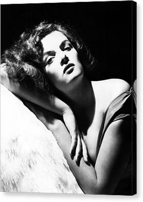 Jane Russell, Ca. Early-mid 1940s Canvas Print by Everett
