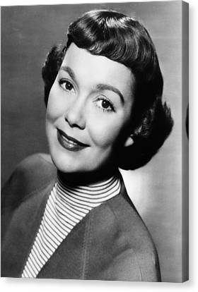Jane Wyman Presents The Fireside Canvas Print by Everett
