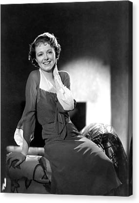 Janet Gaynor, Ca. 1933 Canvas Print by Everett
