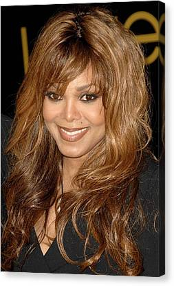 Janet Jackson At Arrivals For Cartier Canvas Print by Everett