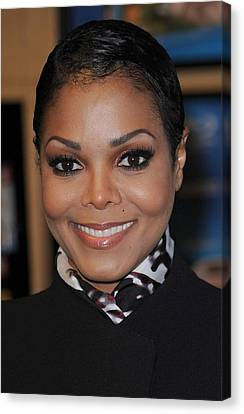 Janet Jackson At In-store Appearance Canvas Print by Everett