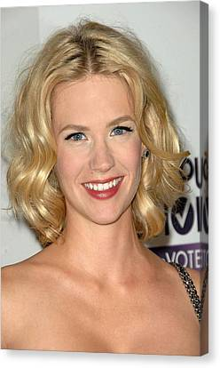 January Jones At Arrivals For 5th Canvas Print by Everett