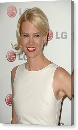 January Jones At Arrivals For A Night Canvas Print by Everett