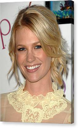 January Jones At Arrivals For New Ocean Canvas Print by Everett