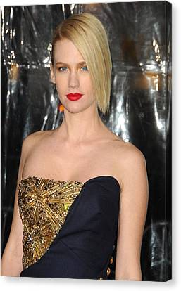 January Jones At Arrivals For Unknown Canvas Print by Everett