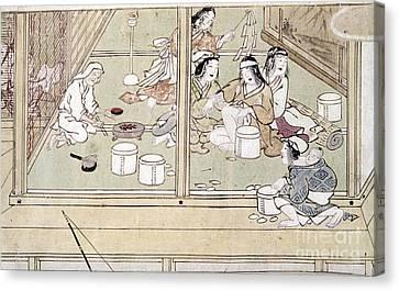 Japan: Childbirth, 1329 Canvas Print by Granger