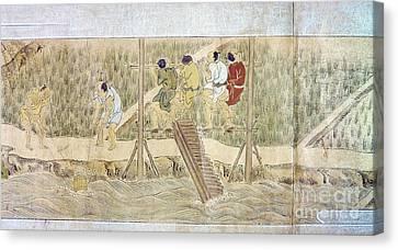 Japan: Irrigation, C1575 Canvas Print by Granger