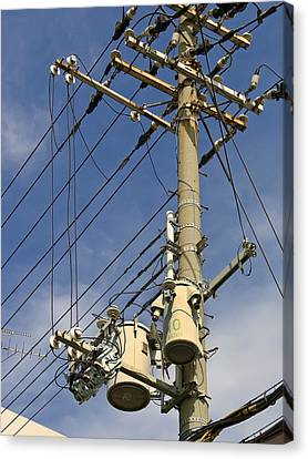 Japan Power Utility Pole Canvas Print by Daniel Hagerman