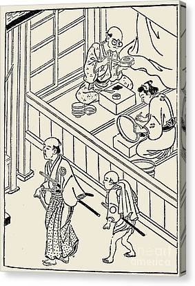 Japan: Samurai, 1700 Canvas Print by Granger