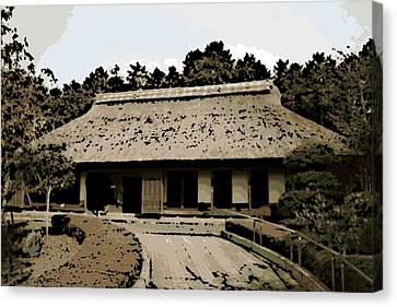 Bamboo House Canvas Print - Japanese Architecture by George Pedro