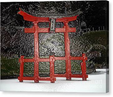 Japanese Garden Bbg Canvas Print by Mark Gilman