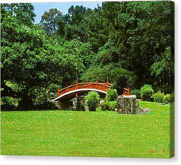 Canvas Print featuring the photograph Japanese Garden Bridge 21m by Gerry Gantt