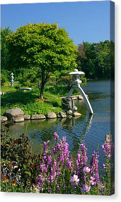 Canvas Print featuring the photograph Japanese Garden by Cindy Haggerty