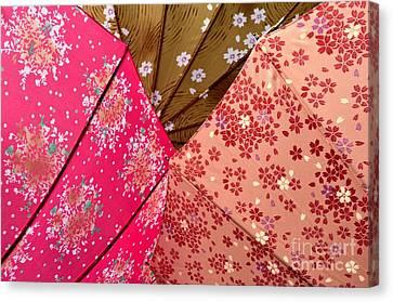 Japanese Umbrellas 1 Canvas Print by Dean Harte