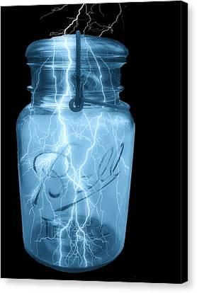 Jarred Lightning Canvas Print by Jack Zulli
