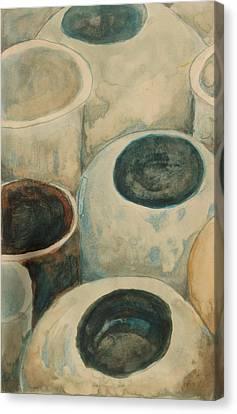 Jars Canvas Print by Diane montana Jansson