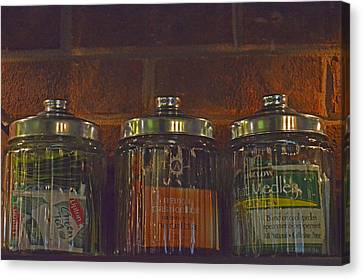 Jars Of Assorted Teas Canvas Print by Sandi OReilly