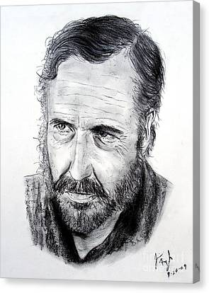 Jason Robards Canvas Print by Jim Fitzpatrick