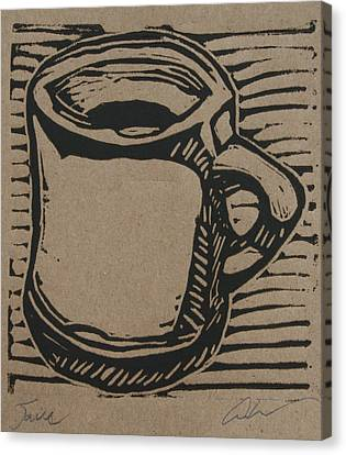 Canvas Print featuring the drawing Java by William Cauthern