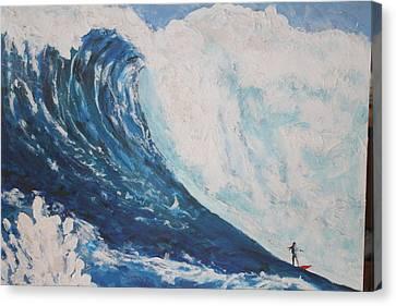 Jaws Peahi Maui Hawaii Canvas Print by Giorgia Piekarski
