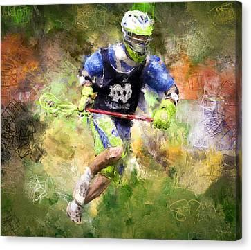 Jaxx Lacrosse 2 Canvas Print by Scott Melby