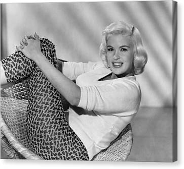 1950s Fashion Canvas Print - Jayne Mansfield, Ca. Late 1950s by Everett