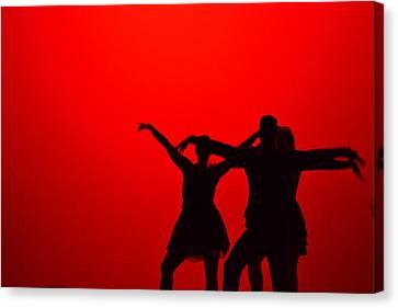 Jazz Dance Silhouette Canvas Print