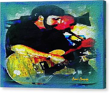 Jazz Duo Canvas Print by Sadie Reneau