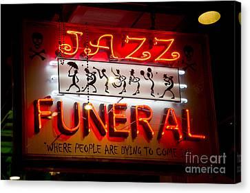 Jazz Funeral Canvas Print