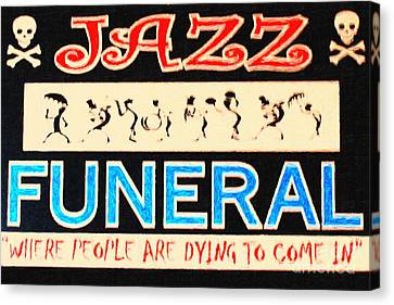 Jazz Funeral New Orleans Canvas Print by Wingsdomain Art and Photography