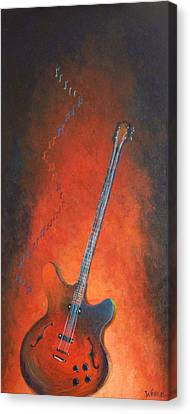 Jazz Guitar Canvas Print by Bill Werle