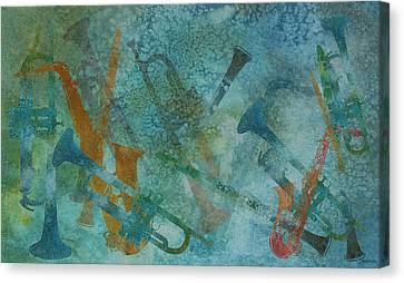 Jazz Improvisation One Canvas Print by Jenny Armitage
