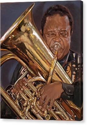 Jazz Legend- Howard Johnson Canvas Print by Larry Seiler